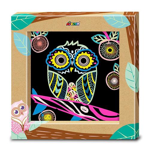 Toyzon Photo Frame Art Scratch -Owl