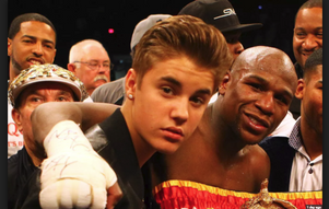 Floyd Mayweather disses Justin Bieber on Instagram.