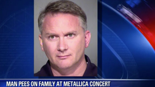 Man arrested after peeing on a 10 year old girl and her family at a Metallica concert