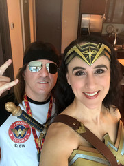 With Wonder Woman Roadie