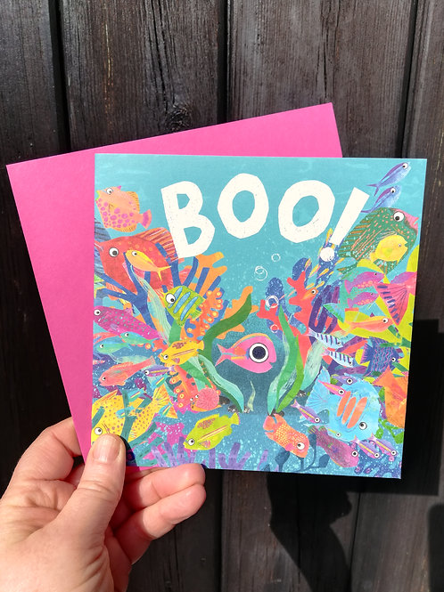 BOO! Fish Greetings Card