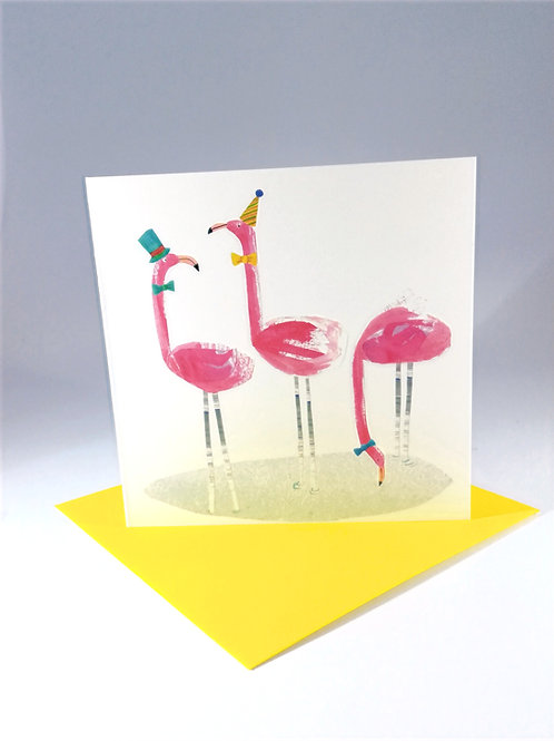 Flamingo Party Greetings Card