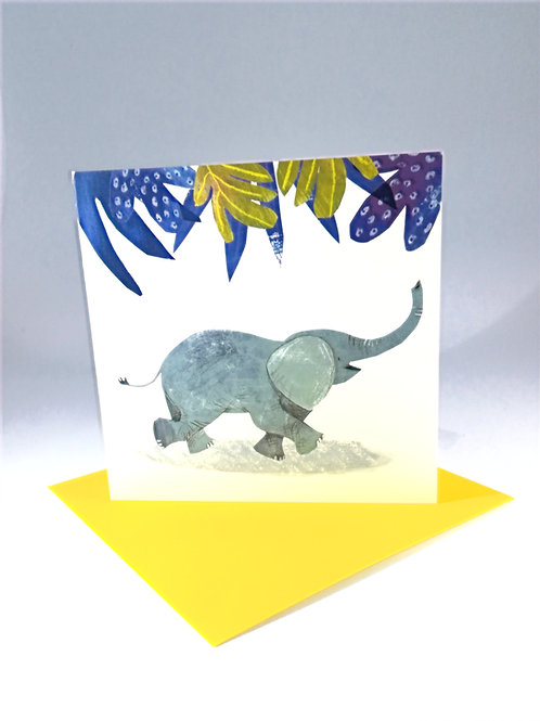 Happy Elephant Greetings Card
