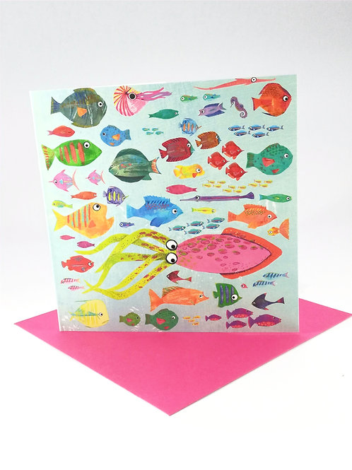 Colourful Fish Greetings Card