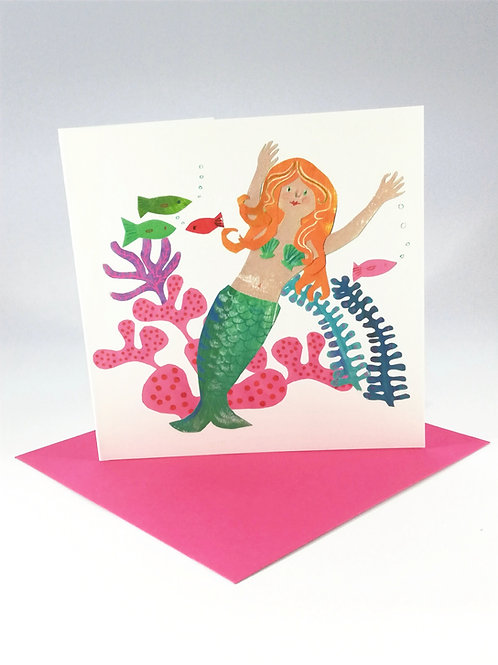Mermaid Greetings Card