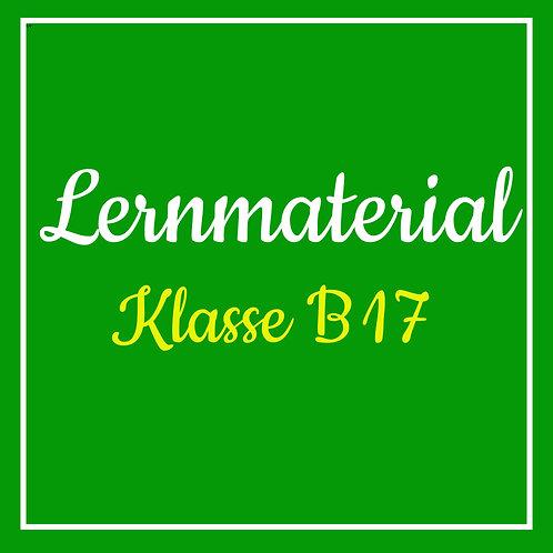 Lernmaterial Klasse B17