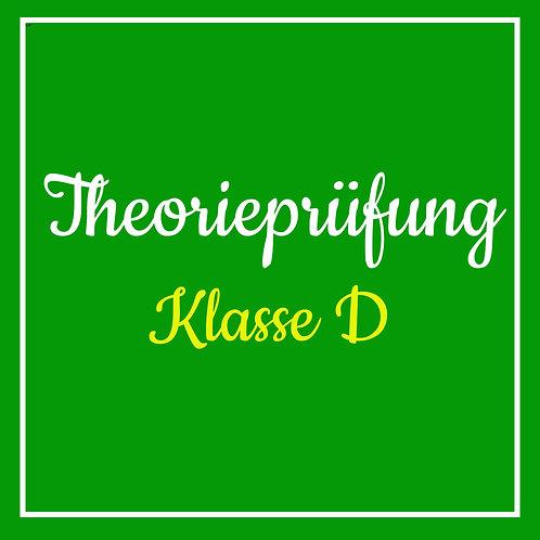 Theorieprüfung Klasse D inkl. TÜV