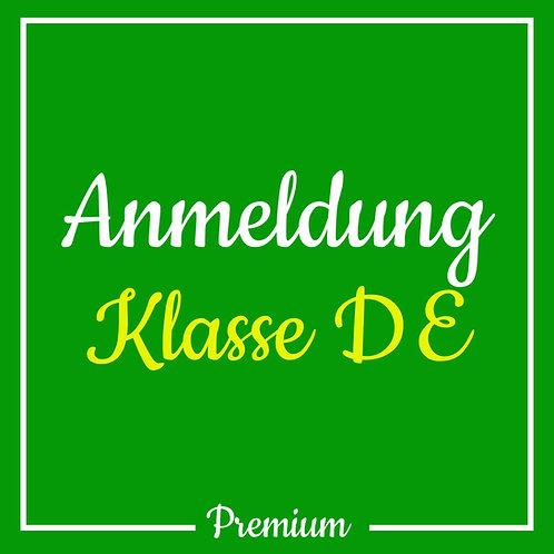 Anmeldegebühr Klasse DE (Premium)