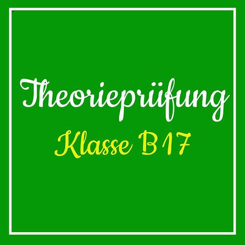 Theorieprüfung Klasse B17 inkl. TÜV