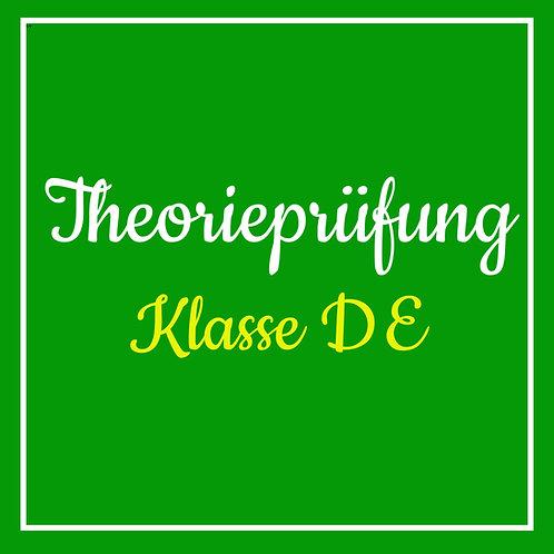 Theorieprüfung Klasse DE inkl. TÜV