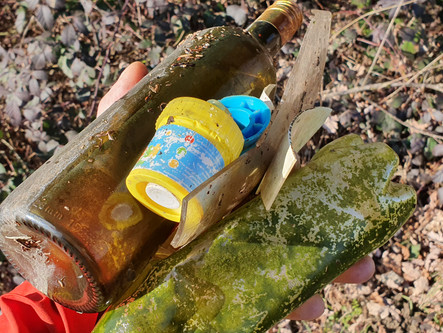 Plastic and Glas Waste In The Forest