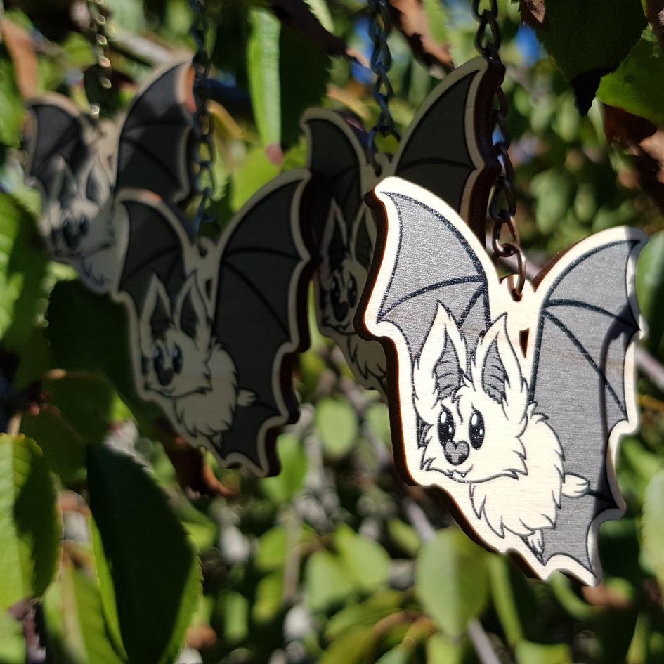 Wooden Bat Charms