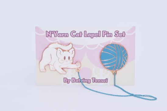 N'Yarn Cat Lapel Pin Set