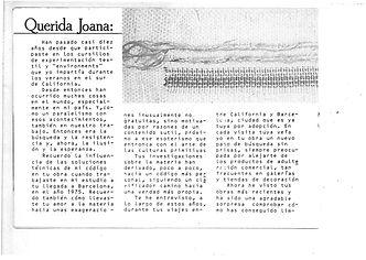 Texto de Joan Garrigas para Joana Gosly
