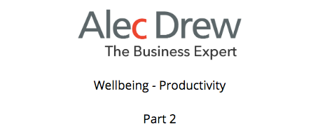 Wellbeing - productivity - part 2