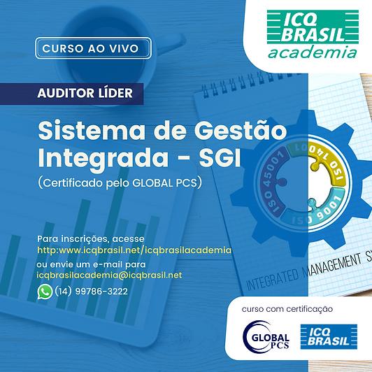 SGI - Auditor Líder de Sistema de Gestão Integrada (Certificado pelo GLOBAL)