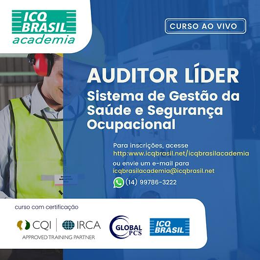 Auditor Líder de Sistema de Gestão da Saúde e Segurança Ocupacional (Certificado pelo IRCA)