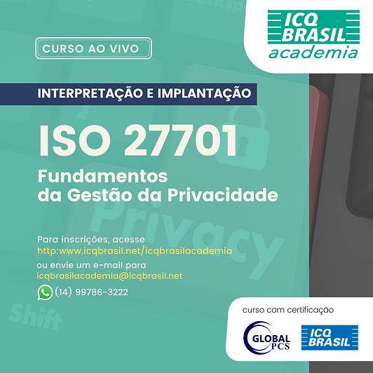 ISO 27701 – Fundamentos da Gestão da Privacidade
