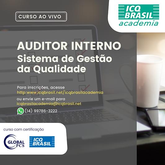 Auditor Interno de Sistema de Gestão da Qualidade