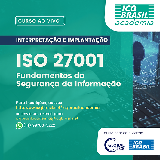 ISO 27001 – Fundamentos da Segurança da Informação