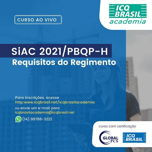 SiAC 2021/PBQP-H - Requisitos do Regimento