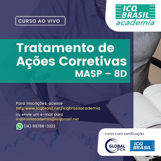 Tratamento de Ações Corretivas – MASP – 8D