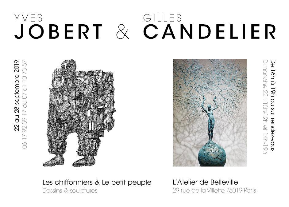 Exposition Y JOBERT et G CANDELIER Flyer