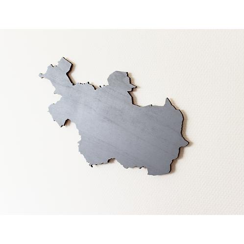 Provinciekaart Hout (alle provincies van Nederland)