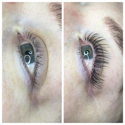 Before and after lash extensions! Define