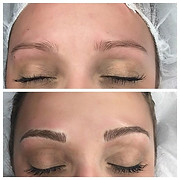 Before and after microbladed brows ✨🖋✍