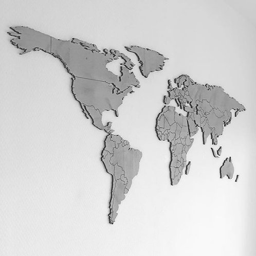 Wereldkaart Hout Klein