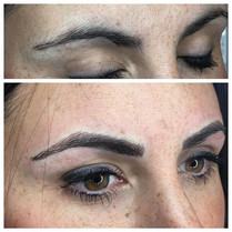 Before and After Microbladed brows