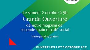 Nouveau dans le Borinage : café social et magasin de seconde main