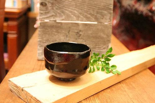 京都松樂窯 黑樂茶碗