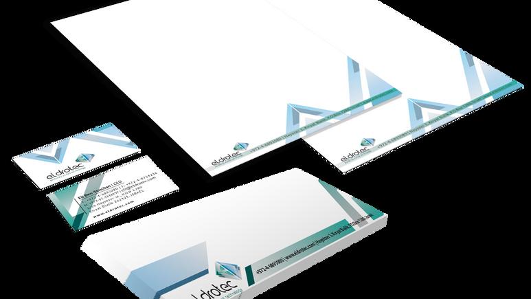 עיצוב ניירת משרדית - מיתוג ״אלדוטק״