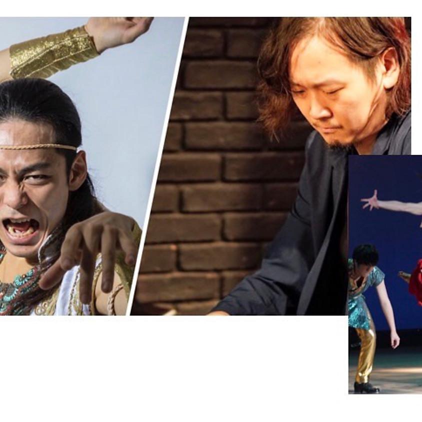 吉野ユウヤ(ピアノ)とCュタツヤ(ダンス)コラボパフォーマンス「縄は 簡単に解けた。いままで願うこともなかった」