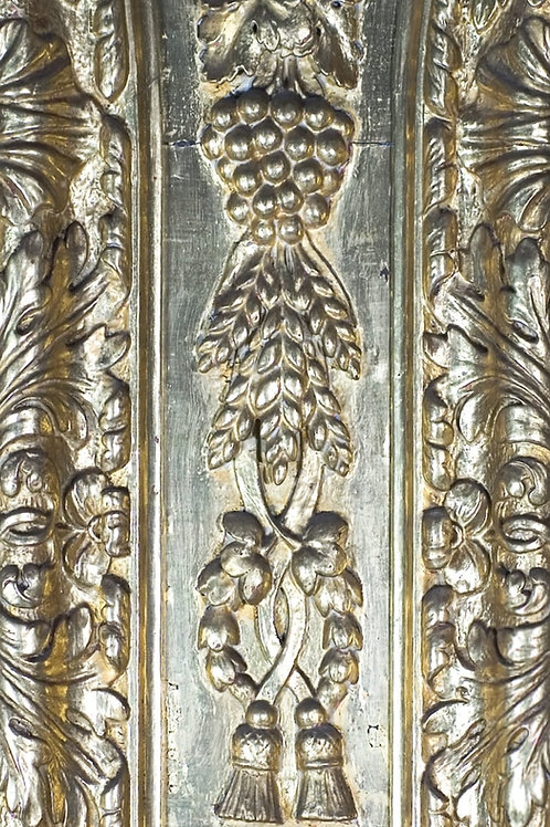 Greeting Card 'Wheat and grape carving'