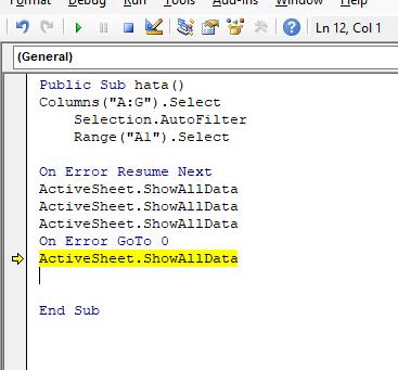 Excel ve Autocad'e oluşan önemsiz hataların atlanması....