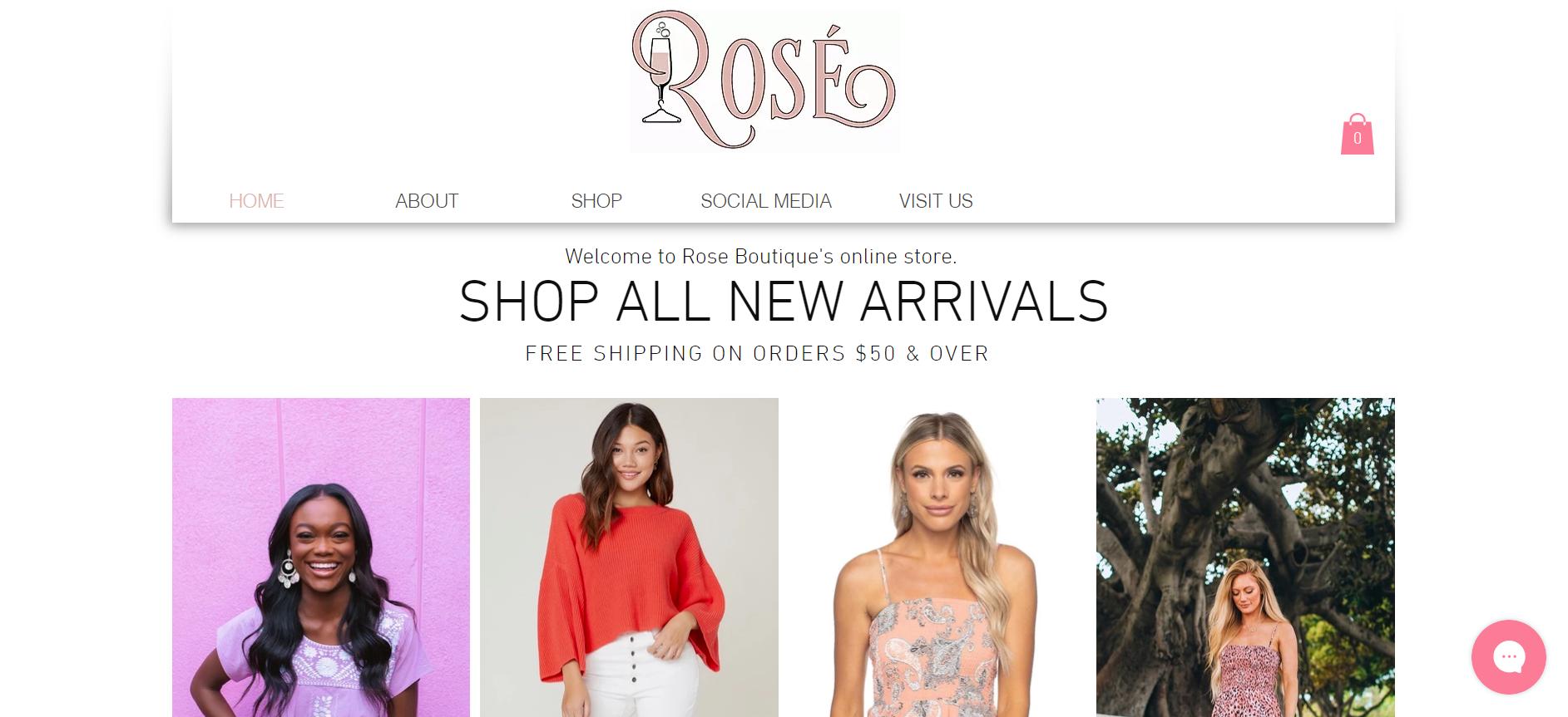 Rose Boutique Website