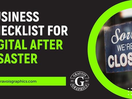 Business checklist for social media and digital assets after disaster