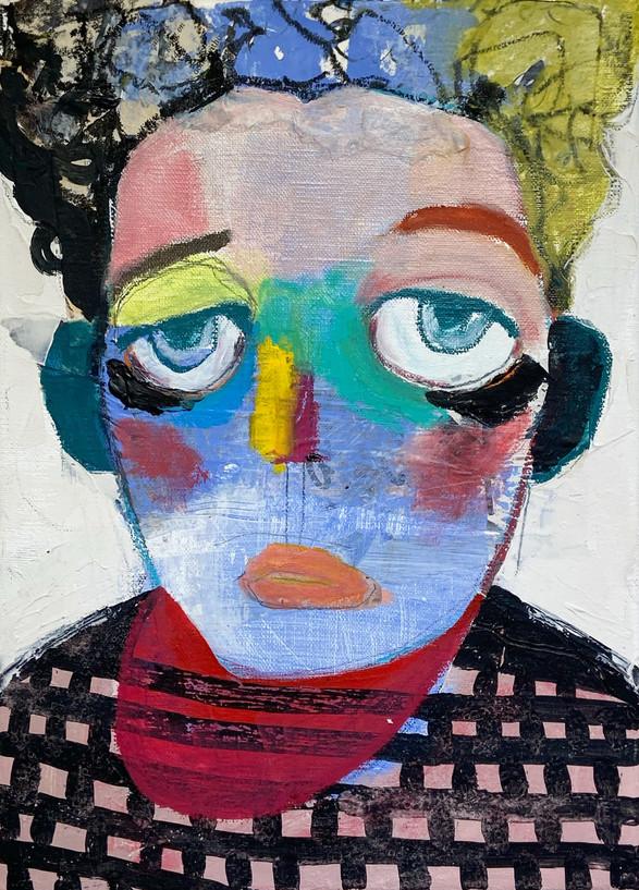 le portrait, 33.4x24.2cm, mixedmedia on canvas, 2020