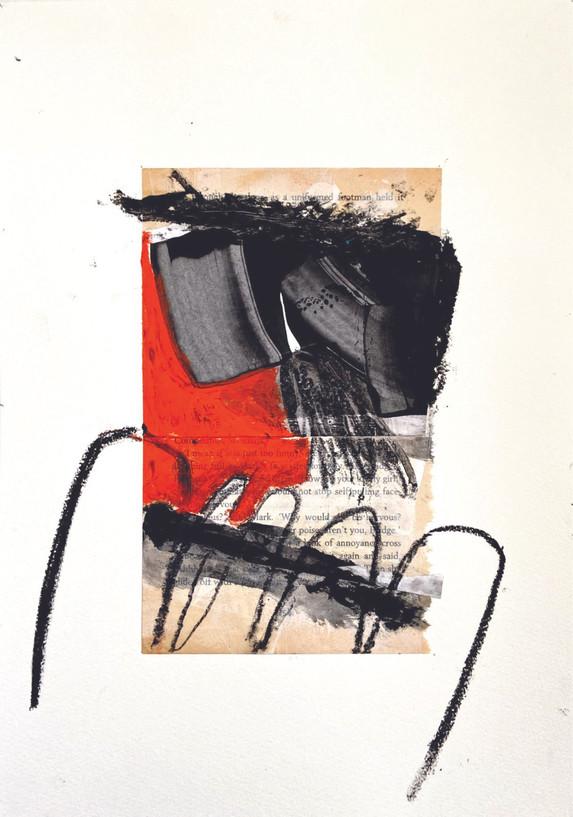 la vie, 20x30cm, mixedmedia on paper, 2019