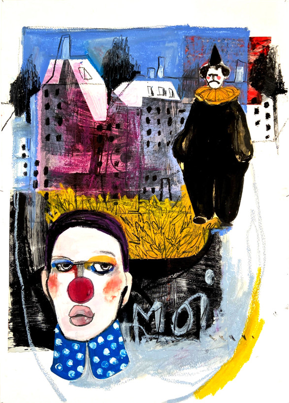 once upon a time, 36x51cm, mixedmedia on paper, 2020
