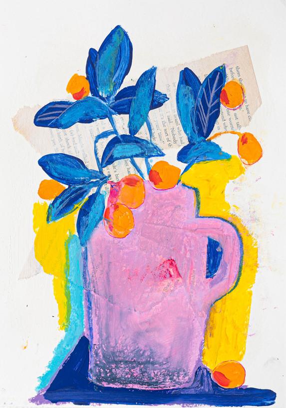 le jardin, 21x30cm, mixedmedia on paper, 2019