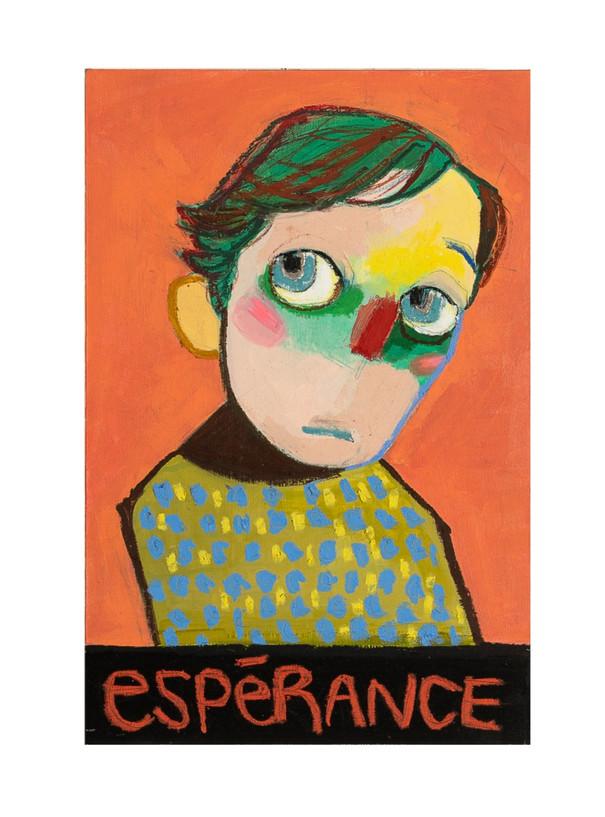 esperance, 30x45.4cm, mixedmedia on wood, 2021