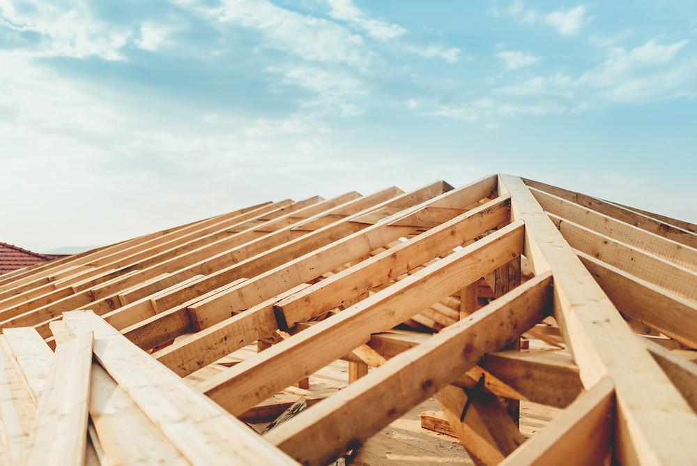 construction d'un toit en bonne couverture