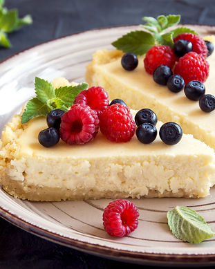 Homemade cheesecake with fresh berries a