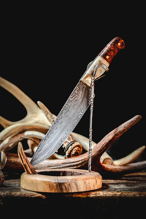 """Feather pattern 7"""" chefs knife"""