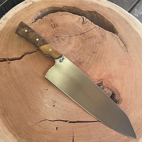 """8"""" Chef Knife- Osage Orange/ Greenmaple burl"""