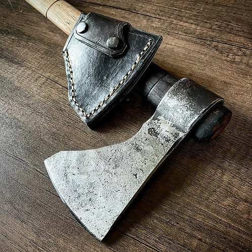 Add-on tomahawk leather sheath